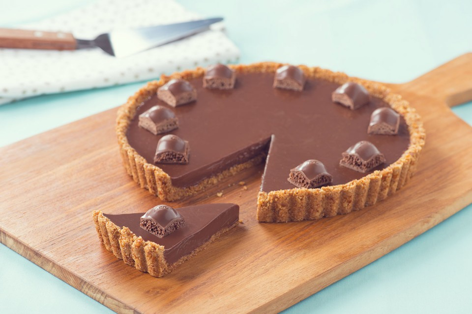 Recette de tarte aux bretzels AERO Sweet n 'Salty. Le sucré et le salé font le combo le plus délicieux!