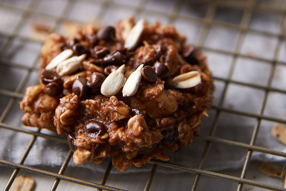 Chocolate Banana Protein Cookies recipe. These flavour-packed cookies combine nuts, seeds and CARNATION Breakfast Powder.