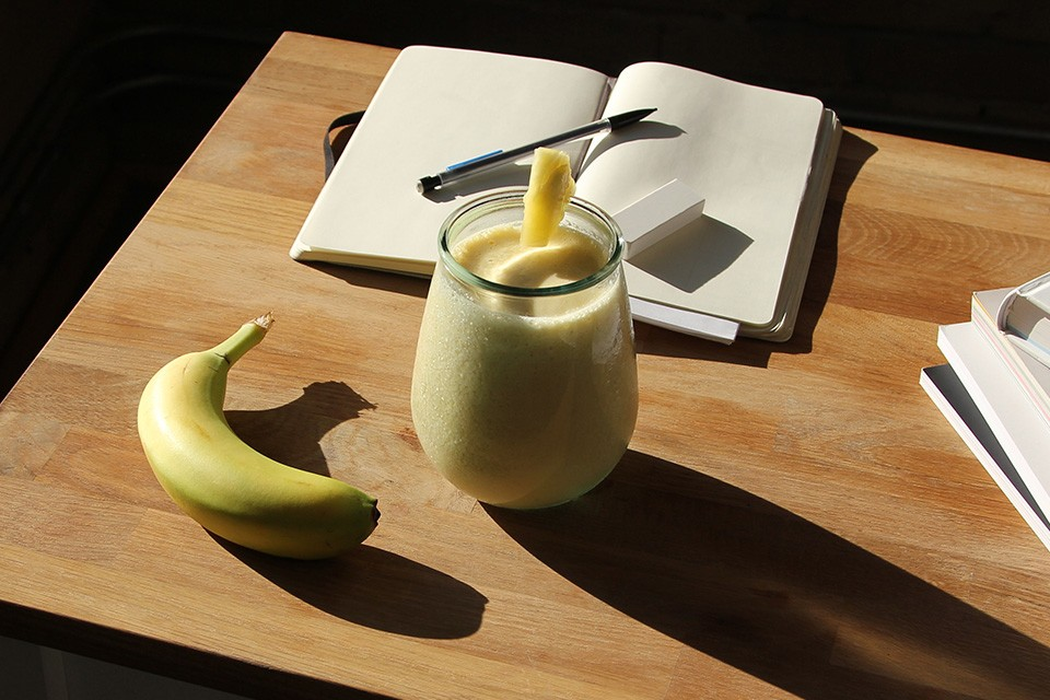 Breakfast Colada recipe. Pineapple, coconut milk, banana & CARNATION BREAKFAST ESSENTIALS Powder Drink Mix - Vanilla!