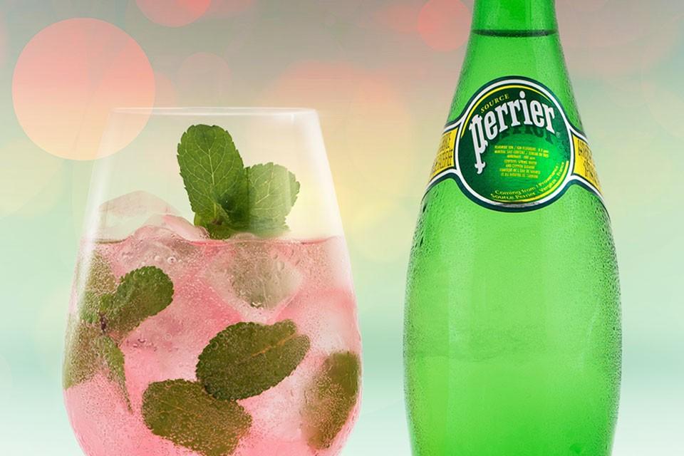 PERRIER Down the Riviera Recipe. Une boisson d'été rafraîchissante à la vodka à la pastèque.