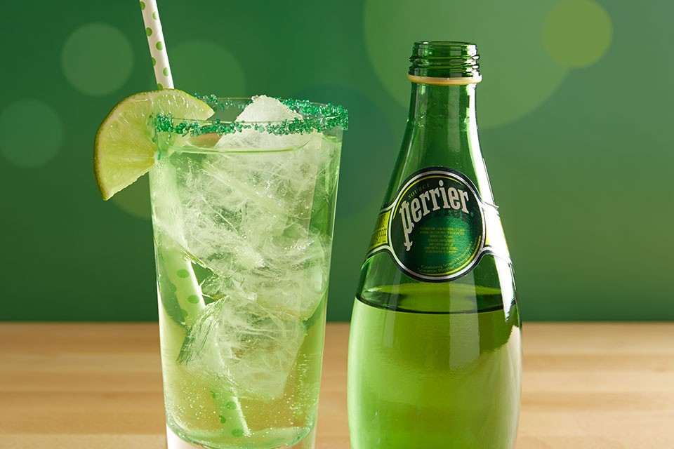 PERRIER Sparkling Shamrock Recipe. Make your Saint Patrick's Day extra lucky with this delicious cocktail.