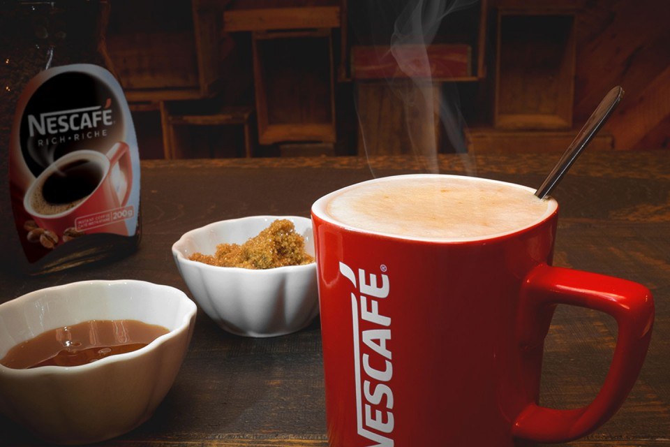 Caramel NESCAFÉ Latte recipe. Sweeten up your breakfast with this Brown Sugar and Caramel NESCAFÉ Latte.
