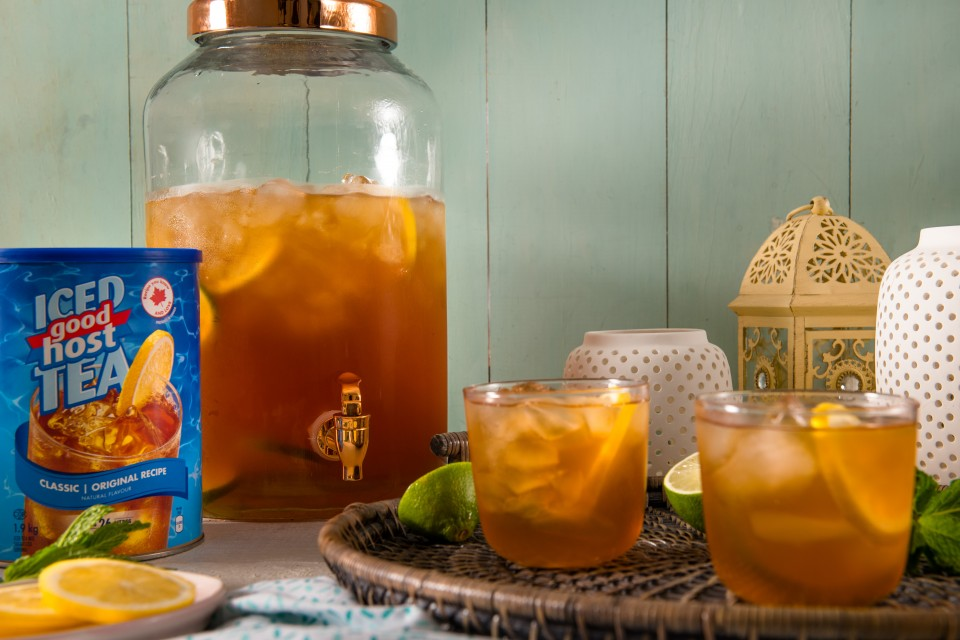 GOOD HOST Iced Tea Sangria recipe. A summery twist that can be enjoyed all season long!