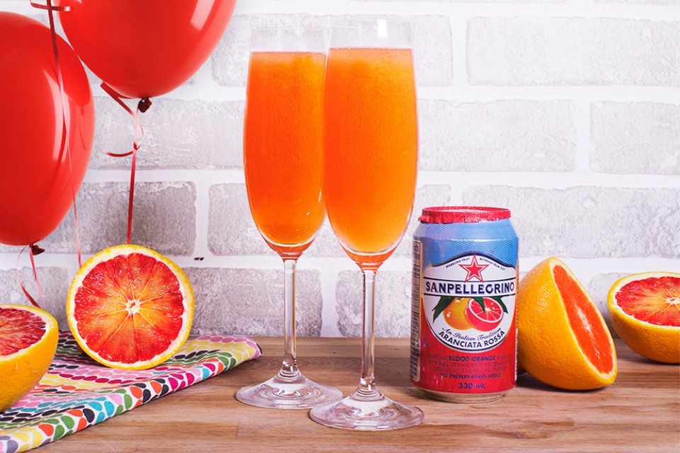 SAN PELLEGRINO Negroni Aranciata Rossa drink recipe. A bubbly, delicious and easy to make cocktail.