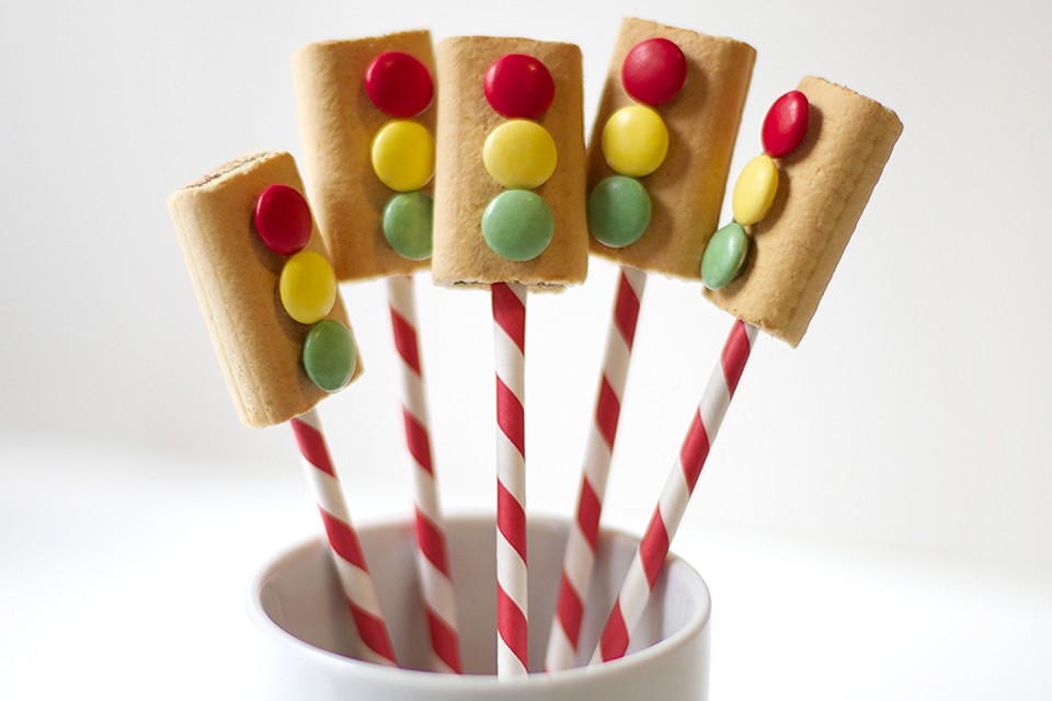 SMARTIES Stop Signs recipe. Candy-coat your fun with this special SMARTIES Chocolate Stop Sign!