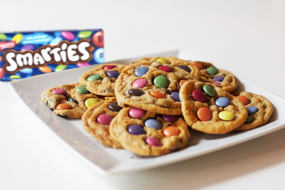 SMARTIES Chocolate Cookies Recipe. A treat kids of all ages will love.