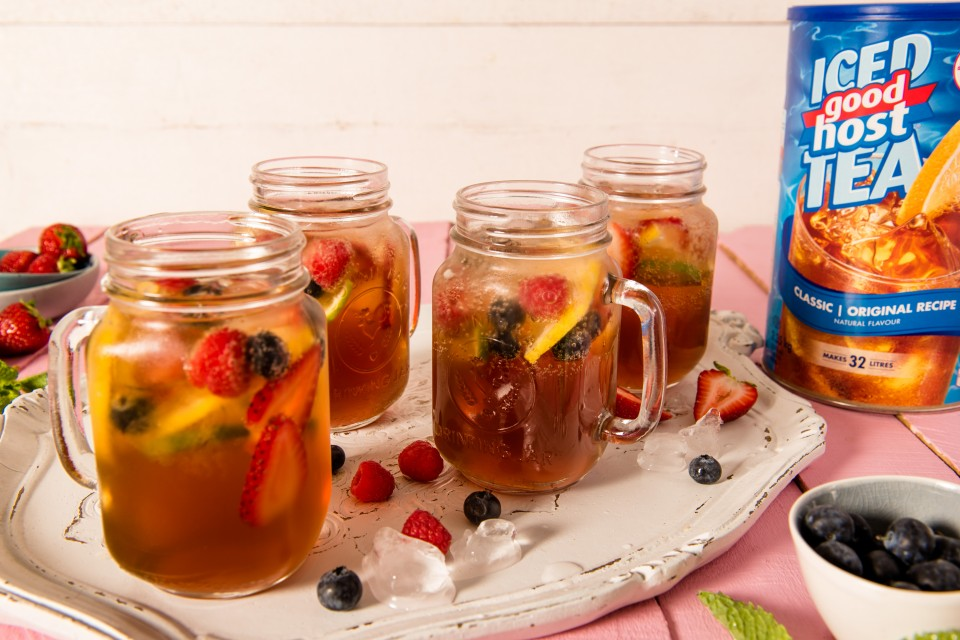 GOOD HOST Summer Berry Punch recipe. A refreshing drink anytime of the year!