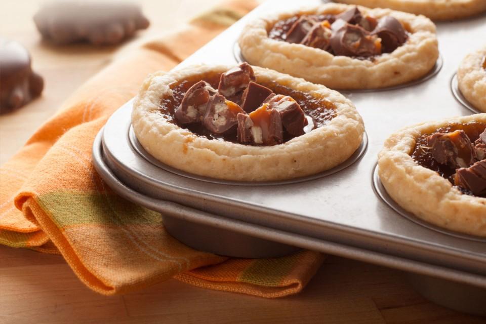 Recette de tartes au beurre TURTLES. Un délice au beurre et au chocolat.