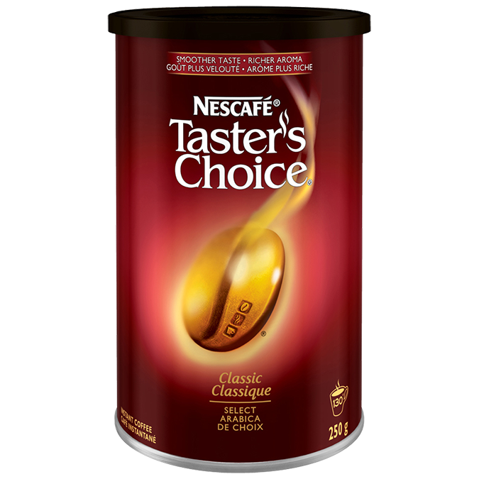 NESCAFÉ Taster's Choice Classic Instant Coffee, 250 grams.