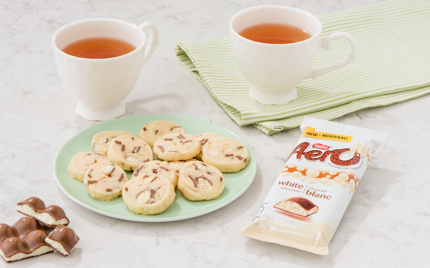 Aero White Chocolate Shortbread Madewithnestle Ca